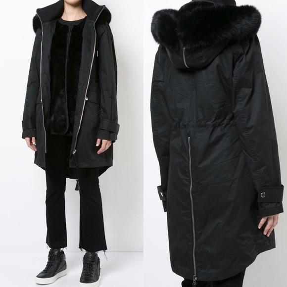 a3aba2c011d0 力Anorak With Detachable Faux Fur Vest 力Derek Lam